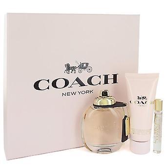 Coach Gift Set by Coach 3 oz Eau de Parfum Spray + .25 oz mini EDP spray + 3,3 oz Loção corporal