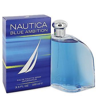 Nautica blue ambition eau de toilette spray by nautica 550338 100 ml