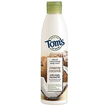Tom's of maine natural body wash, creamy coconut, 12 oz