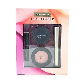 Bareminerals Fabulous Four Full Size Machiaj Essentials Set (1x Mineral Veil Finisare Pulbere 1x Blush 1x Ruj 1x Mascara) - 4buc