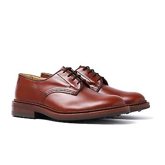 Tricker's Woodstock Marron Antique Plain Leather Derby Shoes