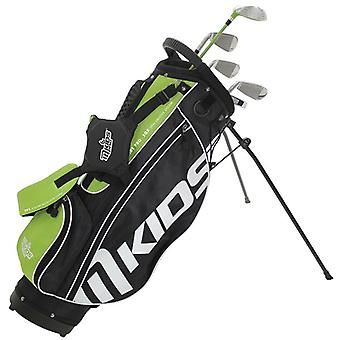 MKids Pro Junior Kids Golf Bag and Clubs Half Set Right Hand Green 9-11 Years