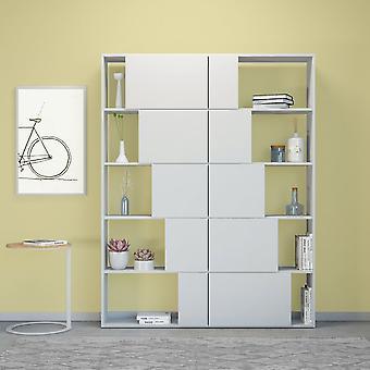 Libreria Skipper Color Bianco in Truciolare Melaminico 130x22x166 cm