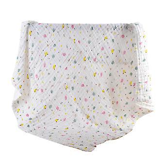 YANGFAN Pure Cotton Soft Cute Printed Baby Towel Quilt