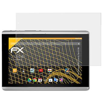 atFoliX Glass Protector compatible with Packard-Bell Liberty Tab G100 9H Hybrid-Glass