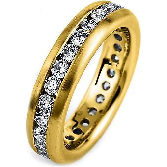 Diamond ring 750/yellow gold 1.55 ct.