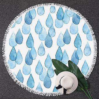Blue Rain DROPS strand håndkle