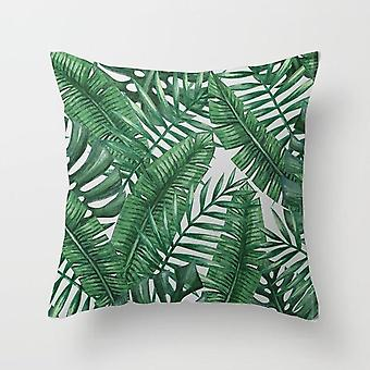 Tropical Plants Pattern Decorative Cushions Pillowcase - Polyester