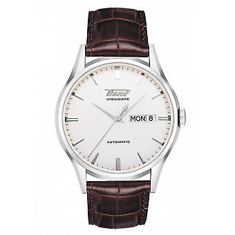 Tissot Watches T019.430.16.031.01 Heritage Visodate Automatic Silver And Brown Leather Men's Watch
