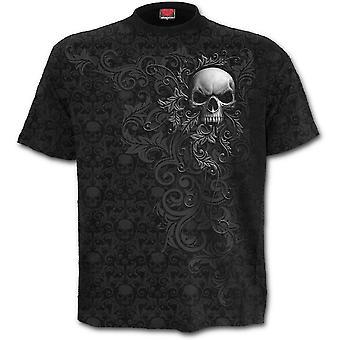 Spiral-skull Scroll-alla över Print t-shirt