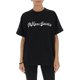 Marc Jacobs C6000074001 Donna's T-shirt in cotone nero