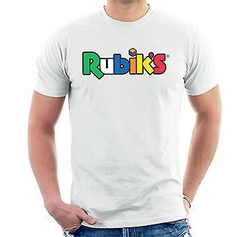 Rubik ' s klassieke logo mannen ' s T-shirt