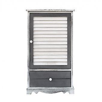 Cabinet de chevet Rebecca Furniture 1 Anta 1 Plateau en bois shabby 73x42x32