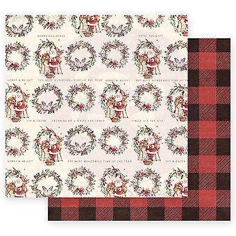 Prima Marketing Christmas In The Country 12x12 Inch Sheets Most Wonderful Time of the Year