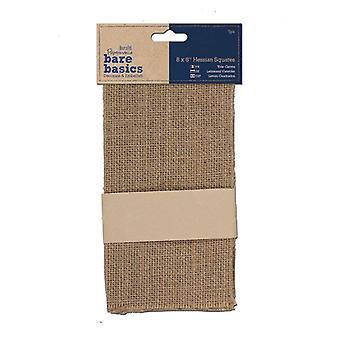 Papermania Bare Basics Hessian Squares (5 pcs) (PMA 174451)