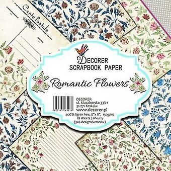 Decorer Romantic Flowers 8x8 Inch Paper Pack