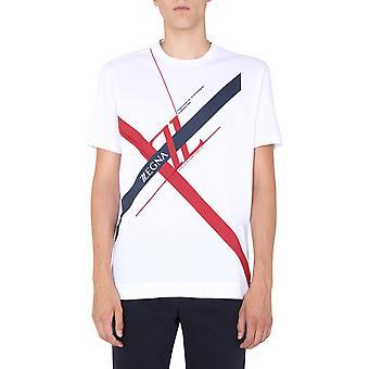 Z Zegna Vv372zz650i6i1 Männer's weiße Baumwolle T-shirt