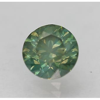 Cert 1.10 Karat Vivid Grün VS2 Runde brillante verbesserte natürliche Diamant 6,37 mm