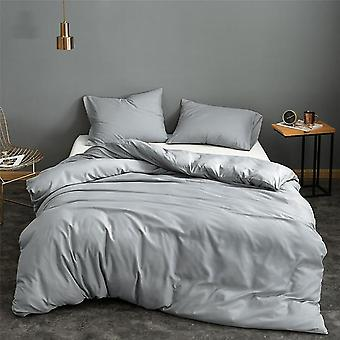 Solid Colors Classical Universal Bed Quilt And Pillowcase Set