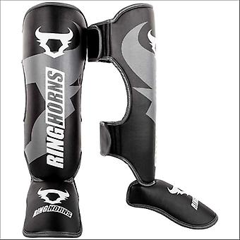 Ringhorns charger shin/instep guards black/white