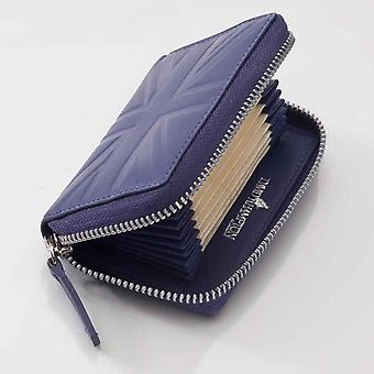 Thistle Britannia leather accordion card case