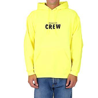 Balenciaga 600583tiv757072 Men's Yellow Cotton Sweatshirt