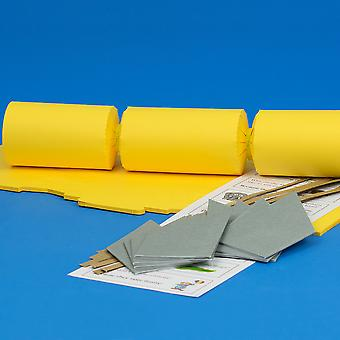 8 Yellow Make & Fill Your Own DIY Recyclable Christmas Cracker Craft Kit