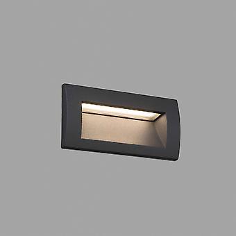 LED ulkouima upotettu seinä vaalean tummanharmaa IP65