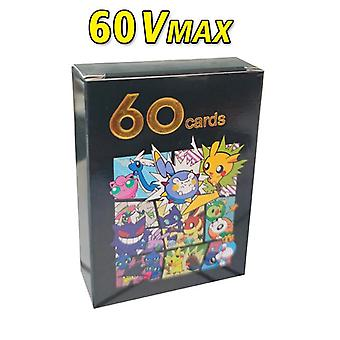64pcs Pokemon Vmax Tag Team Mega Ex Flash Card English Version Pokemon No Repetition Game- Collection Cards Christmas Gift Toys