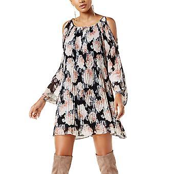 | INC الباردة الكتف الأزهار طباعة فستان صغير