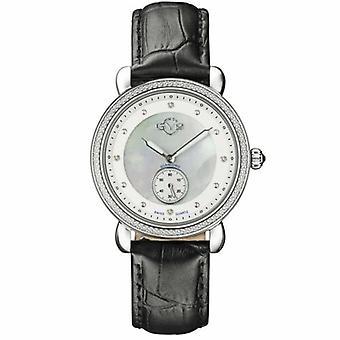 GV2-kehittäjä: Gevril Women's 9834 Marsala - Sub Eye Diamond Leather Wristwatch