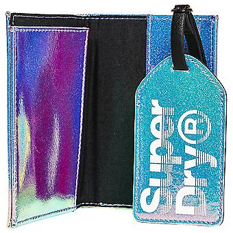 Superdry Passport Holder & Luggage Label - Blue