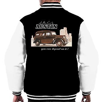 Austin You Can Depend On It British Motor Heritage Men's Varsity Jacket