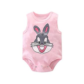 Baby Bag Fart Summer Pure Cotton Vest Clothes- Baby Sleeveless Cartoon