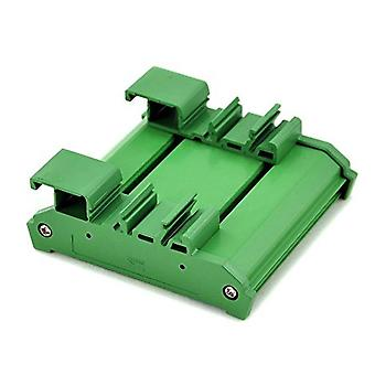 Practical Durable Bracket Adapter Carrier Green Pvc Board Module Din Rail Mount Housing Pcb Holder