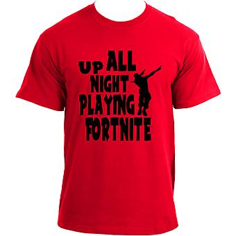 Up All Night Playing Fortnite Gaming T-shirt