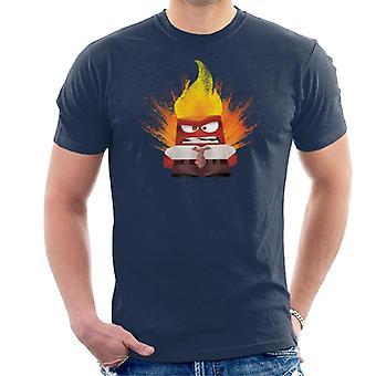 Pixar Inside Out Anger Exploding Men's T-Shirt