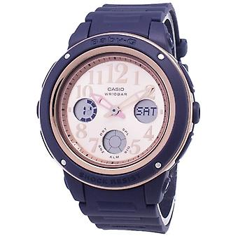 Casio בייבי-g Bga-150pg-2b1 תאורה אנלוגית דיגיטלית נשים & שעון