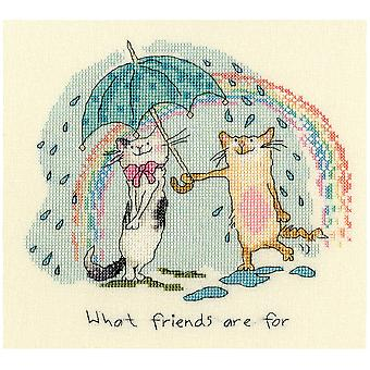 Bothy Threads Cross Stitch Kit - What Friends Are For