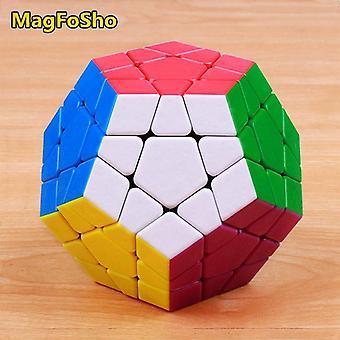 Shengshou Magfosho Megaminxeds μαγικό κύβο ταχύτητα παζλ κύβους αυτοκόλλητο λιγότερο αντι