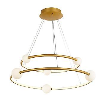 Italux Lausanne - Moderne LED Opknoping Hang Hang Hang Antieke Brons, Warm Wit 3000K 4600lm Dimbaar