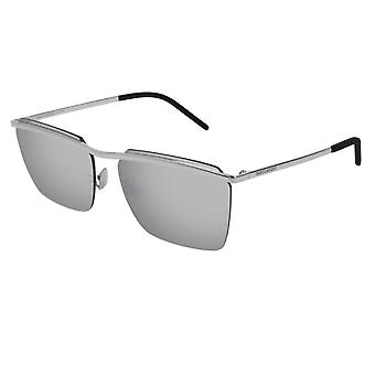 Saint Laurent Sl243 005 60 New Wave Silver Mirrored Sunglasses