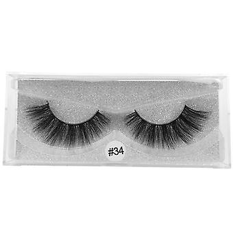 Multi-layered False Eyelashes-natural, Thick And Reusable