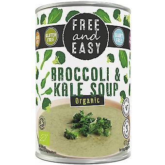 Gratis en eenvoudig biologische broccoli en boerenkoolsoep 400g x6