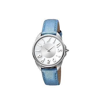 Just Cavalli JC1L008L0025 Womens Blue leather strap with silver dial