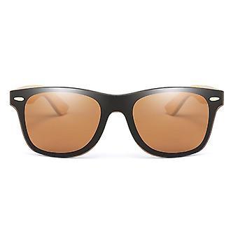 Wood Sunglasses Men Women Square Bamboo Mirror Handmade