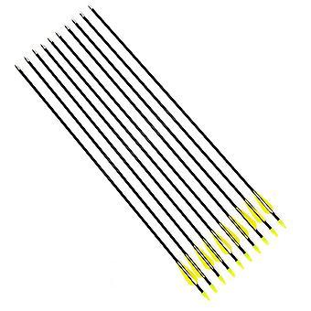 10 Fiberglass Arrows Arrows Fiberglass Arrow Recurve Archery Bow Archery | 31/78.5cm