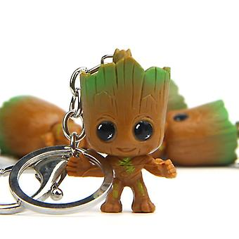 Strongwell Baby Groot Keys Chain Tree Man Model