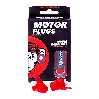 Bananaz Motor Plugs Motorcycle Noise Reducing Earplugs 26db with Case