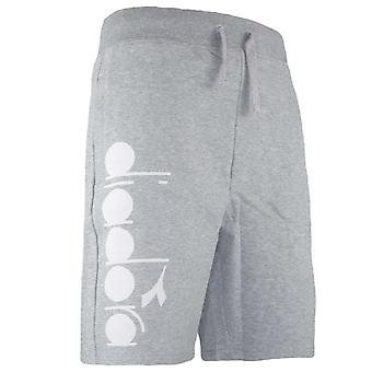 Diadora Light Grey Knee Length Cotton Mens Shorts C5493